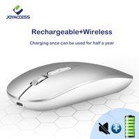J Joyaccess Mouse wireless Silenzioso 2.4 GHz Mouse Computer Mause Ricaricabile Batteria da incasso Ricevente USB Mouse ergonomico per lap lj201006