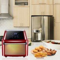 1800W 120V 16L fritadeira elétrica diodo emissor de luz diodo emissor de diodo emissor de luz diodo emissor de luz de exibição e controle de temperatura Alimentação Saudável Alimentação De Cozinha Aparelho De Cozinha Verde / Claret-Red