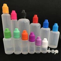 Ecig Vape Oil Plastic Botellas vacías 3ML 5ml 10ml 15ml 20ml 30 ml E-líquido E-líquido E-Luz LDPE Botella de gotero con punta de aguja Caps a prueba de niños