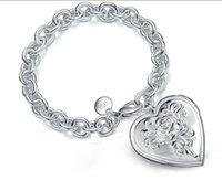 Shell Design Fotoram Charm Armband för kvinnor Silver Färg Locket 2020 Sommar Mode Memorial Smycken 2173