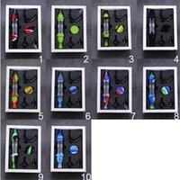 실리콘 등대 모양 연기 파이프 DAB 짚 아크릴 흡연 봉 유리 첨부 그릇 다채로운 흡연 필터 및 10mm 티타늄 손톱
