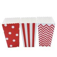 Mini Polka Dot Popcorn Cajas Boda Fiesta de cumpleaños Baby Shower Favors Favores Cajas de galletas Snack Dulces Regalo de Navidad B Jljqx