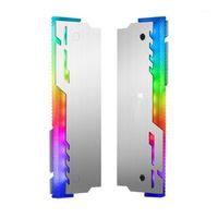 Fans & Coolings JONSBO 2Pcs NC-3 Memory Cooler ARGB Cooling Vest LED Light Changes Automatically Aluminum Radiator Desktop RAM Heatsink1