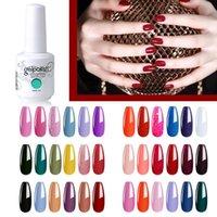 (6pcs) Elite99 Set di gel per unghie Set 6pcs Kit semi permanente immergiti in base alla base top coat per manicure vernice ibride gel nail art