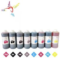 Kits de reabastecimento de tinta HQHQ 8 Cores / Set 1000ml Tintura à base de água de alta qualidade para Canon IPF 8000/9000/8010 / 9010S / Canon 8100/9100 Impressora
