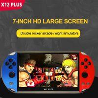 """Écran de 7 pouces X12 Plus 16 Go Jeux Vidéo Jeux Jeux Jeux Joueur Portable Consoles Portable Consoles Psp Retro Dual Rocker Joystick 7 """""""