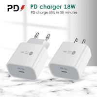 Type-C 18W PD Быстрая зарядка 18 Уолт Power QC3.0 Устройство быстрого зарядного устройства для мобильного телефона с портами USB-C для iPhone XR