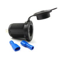 듀얼 USB 포트 12V 자동차 담배 라이터 소켓 방수 자동 보트 오토바이 트랙터 전원 콘센트 소켓 콘센트 자동차 액세서리