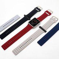 Silikon-Sport-Bands-Ersatz für Apple-Uhr-Band-Handgurt mit Adapter-Zubehör 38mm 40mm 42mm 44mm Watchstrap