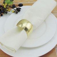 12pcs rotondo anelli tovaglioli per matrimoni festival di natale cena metallo domestico portabicchieri portabicchieri romantici banchetti napk qylfqj