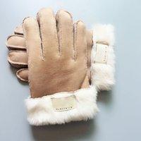 Gants de fourrure Fashion Gants de marque Gants Femmes Hommes Hiver Chauffe Gants de luxe Très bonne qualité Cinq doigts Couvre DDE3265