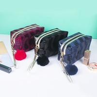 Saco Cosmético Portátil Moda Lantejoula Glitter Organizador Suporte Pequeno Maquiagem Caso Armazenamento de Viagem Beauty Wash Zipper Mulheres Menina Box