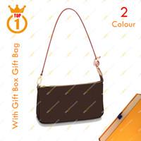 Bayanlar Tasarımcı Moda Pochette Accessoires Omuz Çantası M40712 N41207 Kahverengi Çiçek Beyaz Checkerboard Çanta Ücretsiz Nakliye Kutusu ile