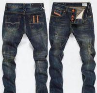 Nouveau Designer Mens Jeans Skinny Pants Casual Jeans de luxe Hommes Mode Dégusté déchiré Mince Moto Moto Moo Biker Denim Hip Hop Pants