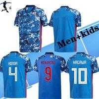 Homens e Kids Kit 2021 JA Pan Pan Home Soccer Jersey National Team Atom Kagawa Endo Okazaki Nagatomo Hasebe Kamamoto 2020 Camisa de Futebol Adulto