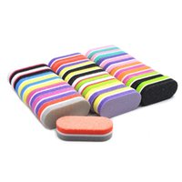 File per unghie 50 PCS Mix Color Mini Spugna Block Sanding Rettifica Gel colorato Gel UV Polacco Professionale Art Care Care Strumenti Set