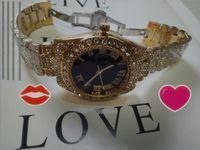 جديد وصول الرجال المرأة أعلى جودة الذكور ساعة اليد الهيكل العظمي الطلب الماس الحافة الكامل حجر الراين حزام الصلب