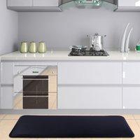 """주방 매트, 안티 피로 카펫, 방수 유화 방지, 욕조 부드러운 침실 바닥 거실 카펫 Doormat 러그 24 """"x70""""x3 / 4 """", 블랙"""