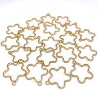Charms alliage creux fleur moon 20pcs / lot charme pour bijoux Fabrication de bricolage cadre pentagramme collier vierge pendentif bezel1