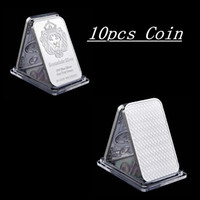 10 Stks Scottsdale 999 Fine Silver One Troy Ounce Bars Bullion Craft in God We vertrouwen 50 mm x 28mm ingots Badge Decoration Coin Bar