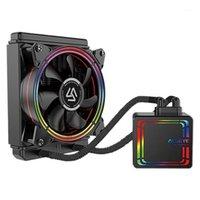 Almohadillas de enfriamiento portátil Alseye H120 Radiador refrigerado por agua RGB FAN integrado CPU para LGA 775 / 115X 1366/2011 AM21