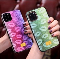 Glitter Gradient Lips Crystal Diamond TPU Case iPhone 12 11 Pro XR XS Max x 8 7 6 SE 2020 Samsung S10 S20 Plus Nota 10 10+ 20 Nota20 Ultra