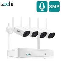 ZOOHI Gözetim Video Sistemi 3MP HD WIFI Kamera Ses Kayıt Ev Gece Görüş Açık Güvenlik Kamera Sistemi LJ201205