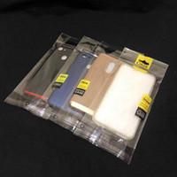 Universal 11 * 21cm trasparente autoadesivo autoadesivo Sealing Borsa da imballaggio in plastica Poly Poly Pack Bags con foro appeso piano per custodia smart phone