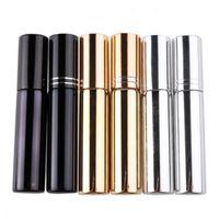 10ml d'atomiseur de placage UV mini rechargeable bouteille de parfum de parfum de parfum portable échantillon échantillon conteneurs vides or argent noir couleur lx4114