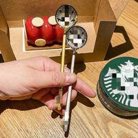 Starbucks 304stainless aço 15 cm café pequeno redondo ornamento DPoon misturar caneca colher criança colher frete grátis