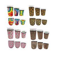 3pcs / set neoprene tazza di caffè Coppa di raffreddamento / da caffè manica manica con maniche ghiacciate tazze ghiacciate Tenere la dimensione 32oz / 24 once / 16oz accetta su misura