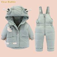 Inverno crianças snowsuit menino vestuário conjunto crianças para baixo jaqueta macacão para menina bebê quente parka casaco com capuz praga sobretivaat 20117