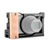 Cage pour Sony RX100 VII VI, Caméra en alliage d'aluminium Vlog VIDE CABRAGE VIDEO AVEC ACCESSOIRES DE VLOGGES DE POIGNAGE EN BOIS
