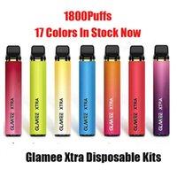 Glamee Xtra 일회용 포드 키트 5.8ml 프리 쿼리 1800 퍼프 1200mAh Vape 펜 스틱 바 장치 XXL Onee Plus Max
