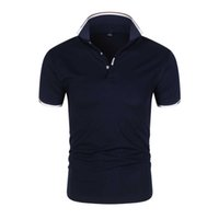 2020 Vendita calda Nuovo Business Casual Casual European Man Manica Slim Slim Anti-Pilling Polo Shirt Tops