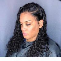 vague d'eau perruque bouclée dentelle frontale perruque de cheveux humains pour femmes noires BOB long frontale frontale perruque brésilienne humide et ondulée HD FulldDGF