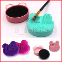 Silikon Make-up Pinselreiniger Waschbürsten Reinigung Schwamm und Matte Pinsel Reinigungswäscher Foundation Reinigungskissen Make-Up-Tool