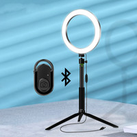 LED Selfie Light Ringlight with Phone Tripod Ring Lamp with Bluetooth Remote Selfie Stick for Makeup Vdieo Photographic Lighting
