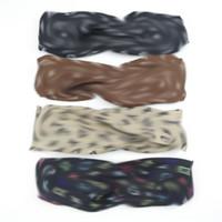 Классические шелковые повязки повязки лето бренд Headwrops буквы печатных волос полосы головы шарф эластичные волосянные для волос подарки
