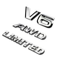 اكسسوارات السيارات لتويوتا هايلاندر 3d المعادن كروم سيارة الخلفية الجذع شعار v6 ملصق رياضة awd صائق محدودة شارة راقية