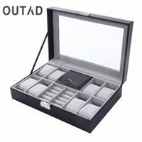 Grids mixtes PU Cuir Watch Boîte Boîte à bijoux Container Récipient Récipient Bracelet Bracelet Organisateur Afficher Casquette Caja de Reloj CX200807