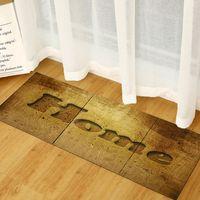 40 * 60 cm Mutfak Halı Kare Şerit Mutfak Mat Kapı Mat Emici Halı Simülasyon Ahşap Desen Ücretsiz Kargo