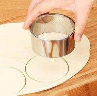 Cookie Pâtisserie emballage Dough Tool de découpe 3PCS / Set Cutter Maker Outil En Acier Inoxydable Dumplings Rond Dumplings Erappers Moules Set Owf3326