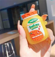 لطيف عصير البرتقال سماعة القضية ل airpods 3 غطاء مضحك سماعة شحن مربع الحالات حماية ل Air Pods Pro 2 1 لينة كابا