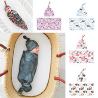 Newborn Baby Swaddle Blanket Hat 2 pcs Sleeping Bags Wrap IN...