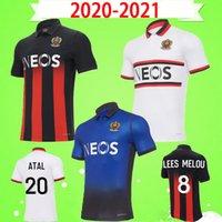 20 21 OGC Niza Jerseys de fútbol Dolberg 2020 2021 Atal Lees Melou Cyprien Camisas de Fútbol Rony Lopes Claude Maurice Maillot de Pie