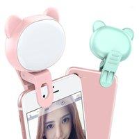 Lampeggia USB Carica Selfie Ring Light Light Light per lente mobile Flash 360 ° Pografia girevole Pografia a rotazione Light1