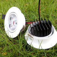 LED Tavan Spot Işıkları Kısılabilir 110 V 220 V Gömme Işıkları Lampara 3 W 5 W 7 W Sıcak Beyaz Soğuk Beyaz Ev Yapımı için
