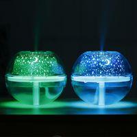 USB Crystal Night Lamp Proyector 500ml Humidificador de aire Desktop Diffuser Difusor Ultrasonic LED Luz nocturna para el hogar