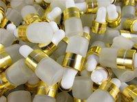 زجاجات التعبئة 50 قطعة / الوحدة 1 ملليلتر 2 ملليلتر 3 ملليلتر العطر الضروري النفط متجمد الزجاج قطارة زجاجة الجرار قوارير مع ماصة لمستحضرات التجميل